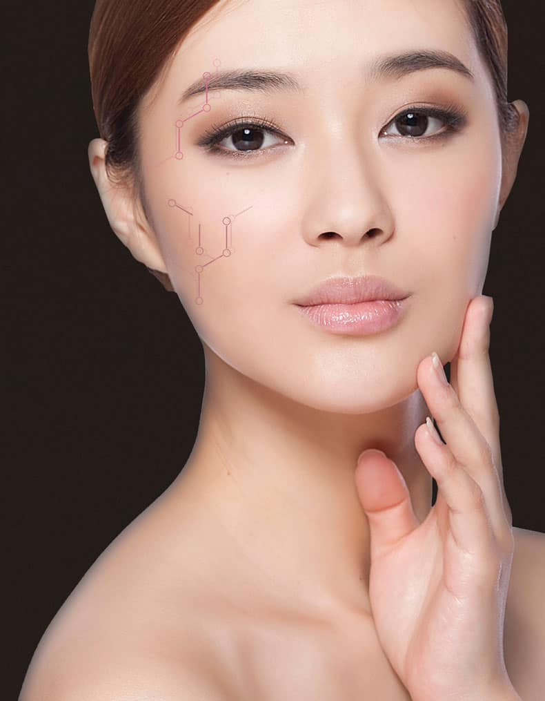 Woman with clear bright skin
