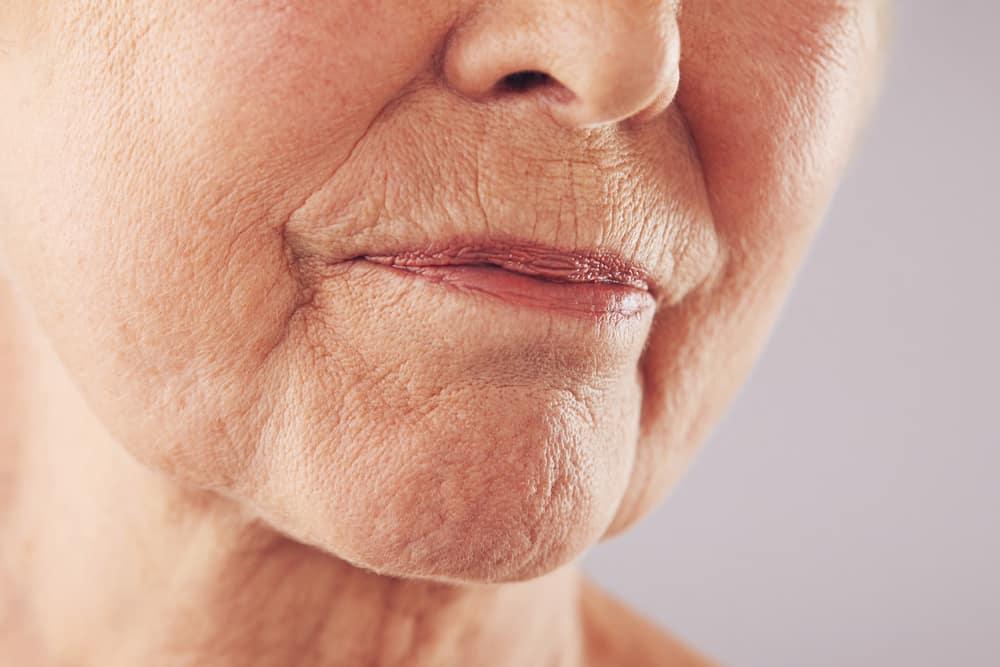 close up of fine line wrinkles